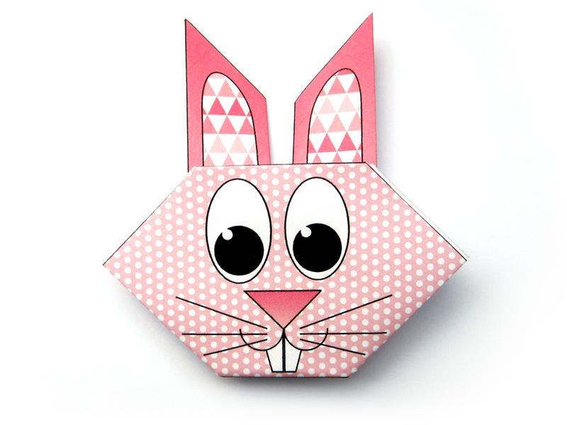 Origami Rabbit Head 1 T800